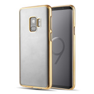 *Sale* Skyfall Electroplating Clear Transparent TPU Soft Case for Samsung Galaxy S9 - Gold