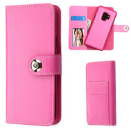 *Sale* 2-IN-1 Premium Leather Wallet with Removable Magnetic Case for Samsung Galaxy S9 - Hot Pink