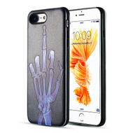 *Sale* Art Pop Series 3D Embossed Printing Hybrid Case for iPhone 8 / 7 - Skeleton Finger