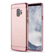 *Sale* GripTech 3-Piece Chrome Frame Case for Samsung Galaxy S9 - Rose Gold