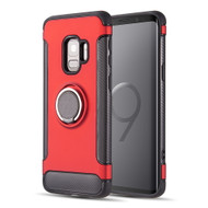 *Sale* Carbon Edge Sports Hybrid Armor Case with Ring Holder for Samsung Galaxy S9 - Red