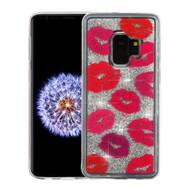 *Sale* Quicksand Glitter Transparent Case for Samsung Galaxy S9 - Kisses