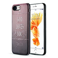 *Sale* Art Pop Series 3D Embossed Printing Hybrid Case for iPhone 8 / 7 - God Loves You