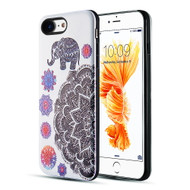 *Sale* Art Pop Series 3D Embossed Printing Hybrid Case for iPhone 8 / 7 - Elephant Mandala