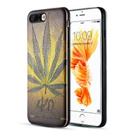 *Sale* Art Pop Series 3D Embossed Printing Hybrid Case for iPhone 8 Plus / 7 Plus - Cannabis 420