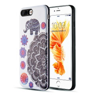 *Sale* Art Pop Series 3D Embossed Printing Hybrid Case for iPhone 8 Plus / 7 Plus - Elephant Mandala