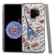 *Sale* Tough Triple Layer Hybrid Case for Samsung Galaxy S9 Eiffel Tower