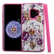 *Sale* Tough Anti-Shock Hybrid Case for Samsung Galaxy S9 - Violet Flowers