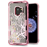 *Sale* Tuff Lite Quicksand Glitter Electroplating Transparent Case for Samsung Galaxy S9 - Maple Vine