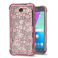 *Sale* Tuff Lite Quicksand Case for Samsung Galaxy J3 (2017) / J3 Emerge / J3 Prime / Amp Prime 2 - Hibiscus