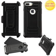 *Sale* Advanced Hybrid Armor Case and Holster for iPhone 8 Plus / 7 Plus - Black