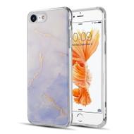 Marble IMD Soft TPU Glitter Case for iPhone 8 / 7 - Purple