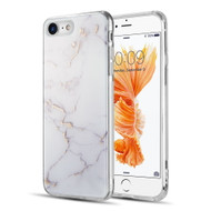 Marble IMD Soft TPU Glitter Case for iPhone 8 / 7 - White