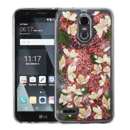 Quicksand Glitter Transparent Case for LG Stylo 3 / Stylo 3 Plus - Sally Flowers