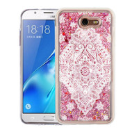 *Sale* Quicksand Glitter Transparent Case for Samsung Galaxy J7 (2017) / J7 V / J7 Perx - Flower Mandala