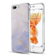 Marble IMD Soft TPU Glitter Case for iPhone 8 Plus / 7 Plus - Purple