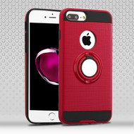 *Sale* Sports Hybrid Armor Case with Smart Loop Ring Holder for  iPhone 8 Plus / 7 Plus - Red