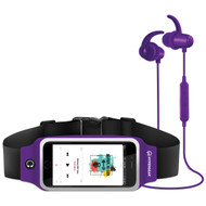 HyperGear ActiveGear Bluetooth Wireless Earphones + Sport Belt Set - Purple