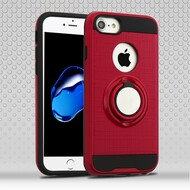 Sports Hybrid Armor Case with Smart Loop Ring Holder for  iPhone 8  / 7 - Red