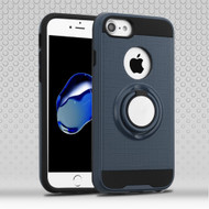 Sports Hybrid Armor Case with Smart Loop Ring Holder for  iPhone 8  / 7 - Ink Blue