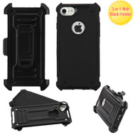 *Sale* Advanced Hybrid Armor Case and Holster for iPhone 8 / 7 - Black