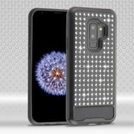 Luxury Bling Diamond Hybrid Case for Samsung Galaxy S9 Plus- Black