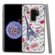 *Sale* Tough Anti-Shock Triple Layer Hybrid Case for Samsung Galaxy S9 Plus - Eiffel Tower