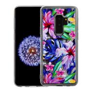 *Sale* Quicksand Glitter Transparent Case for Samsung Galaxy S9 Plus - Watercolor Hibiscus