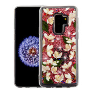*Sale* Quicksand Glitter Transparent Case for Samsung Galaxy S9 Plus - Sally Flowers