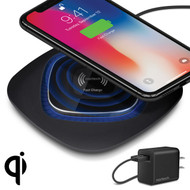 Naztech 10W Power Pad Qi Wireless Fast Charger - Black