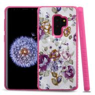 *Sale* Tough Anti-Shock Hybrid Case for Samsung Galaxy S9 Plus- Violet Flowers
