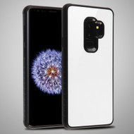 *Sale* Minimalistic TPU Case with Tempered Glass Backing for Samsung Galaxy S9 Plus - White