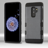 *Sale* Military Grade Certified TUFF Trooper Dual Layer Hybrid Armor Case for Samsung Galaxy S9 Plus - Carbon