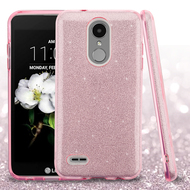 Full Glitter Hybrid Protective Case for LG Aristo 2 / Fortune 2 / K8 (2018) / Tribute Dynasty / Zone 4 - Pink