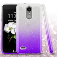 Full Glitter Hybrid Protective Case for LG Aristo 2 / Fortune 2 / K8 (2018) / Tribute Dynasty / Zone 4 - Purple