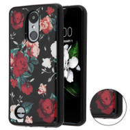 Shockproof Crystal TPU Case for LG Aristo 2 / Fortune 2 / K8 (2018) / Tribute Dynasty / Zone 4 - Red and White Roses