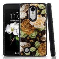 Tough Triple Layer Hybrid Case for LG Aristo 2 / Fortune 2 / K8 (2018) / Tribute Dynasty / Zone 4 - Lucky Flowers