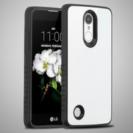 *Sale* Tempered Glass Backing Case for LG Aristo 2 / Fortune 2 / K8 (2018) / Tribute Dynasty / Zone 4 - White