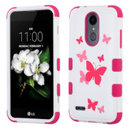 *Sale* Military Grade TUFF Hybrid Case for LG Aristo 2 / Fortune 2 / K8 (2018) / Tribute Dynasty / Zone 4 - Butterfly