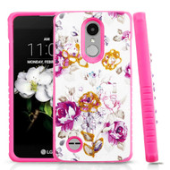 Tough Anti-Shock Hybrid Case for LG Aristo 2 / Fortune 2 / K8 (2018) / Tribute Dynasty / Zone 4- Violet Flowers