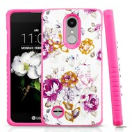 *Sale* Tough Anti-Shock Hybrid Case for LG Aristo 2 / Fortune 2 / K8 (2018) / Tribute Dynasty / Zone 4- Violet Flowers