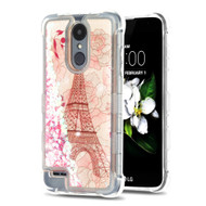 Tuff Lite Quicksand Glitter Case for LG Aristo 2 / Fortune 2 / K8 (2018) / Tribute Dynasty / Zone 4 - Eiffel Tower