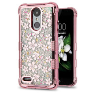 Tuff Lite Quicksand Electroplating Case for LG Aristo 2 / Fortune 2 / K8 (2018) / Tribute Dynasty / Zone 4 - Hibiscus