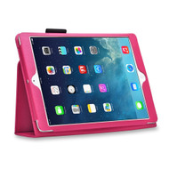 Leather Portfolio Smart Case for iPad (2018/2017) / iPad Air - Hot Pink