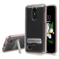 Bumper Shield Case with Kickstand for LG Aristo 2 / Fortune 2 / K8 (2018) / Tribute Dynasty / Zone 4 - Rose Gold
