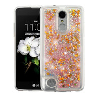 Quicksand Glitter Transparent Case for LG Aristo 2 / Fortune 2 / K8 (2018) / Tribute Dynasty / Zone 4 - Pink