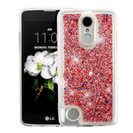 Quicksand Glitter Transparent Case for LG Aristo 2 / Fortune 2 / K8 (2018) / Tribute Dynasty / Zone 4 - Rose Gold