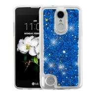*Sale* Quicksand Glitter Transparent Case for LG Aristo 2 / Fortune 2 / K8 (2018) / Tribute Dynasty / Zone 4 - Blue