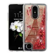 Quicksand Glitter Case for LG Aristo 2 / Fortune 2 / K8 (2018) / Tribute Dynasty / Zone 4 - Eiffel Tower Rose Gold
