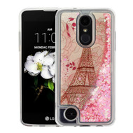 Quicksand Glitter Transparent Case for LG Aristo 2 / Fortune 2 / K8 (2018) / Tribute Dynasty / Zone 4 - Eiffel Tower